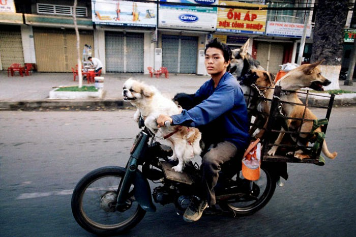 motocicletas con mucha carga
