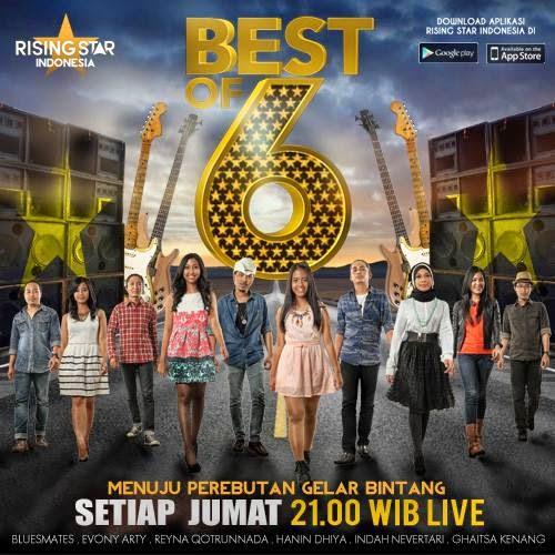 Daftar Lagu Peserta 6 Besar Rising Star Indonesia