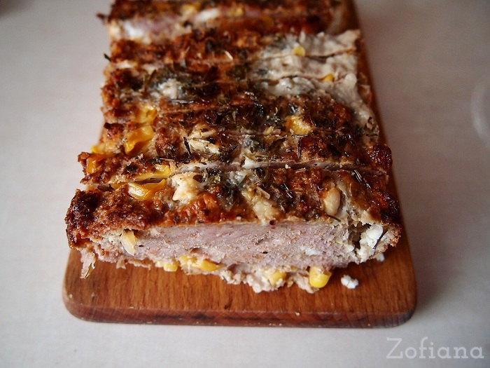 Meatloaf With Feta and corn Recipe