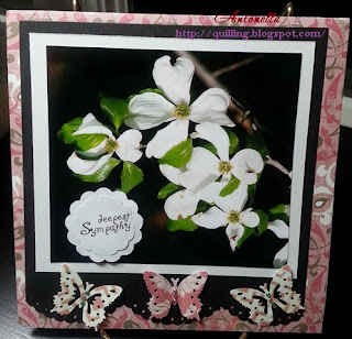 sympathy card dogwood flower boston marathon