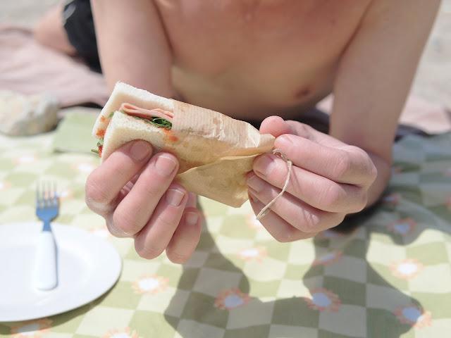 picnic en la playa sandwich