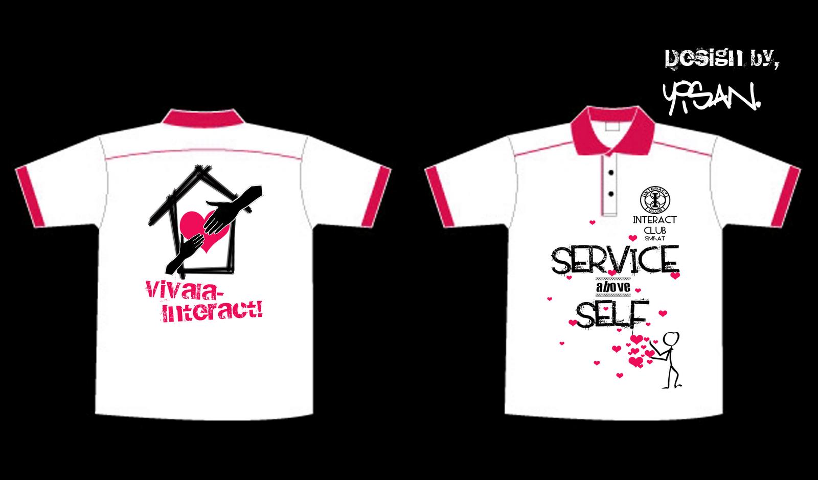 Design t shirt collar - New Interact Club Of Smk Ayer Tawar T Shirt