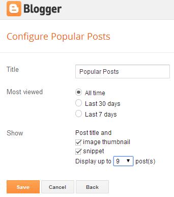 configure post