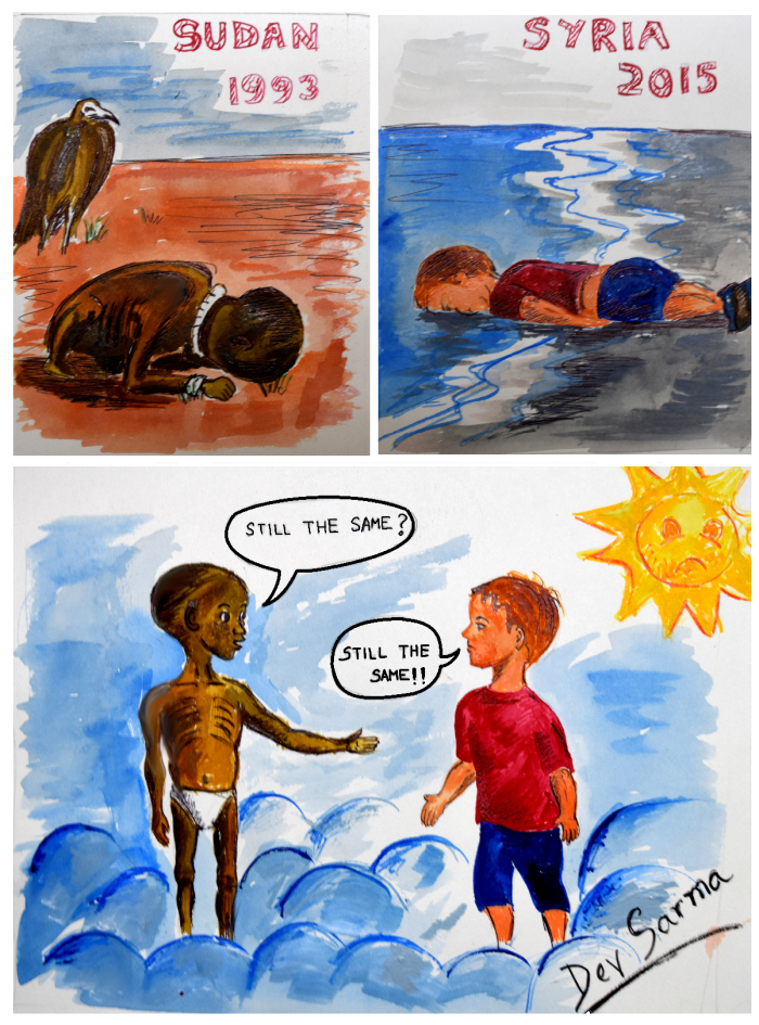 Artists Around The World Respond To Tragic Death Of 3-Year-Old Syrian Refugee - Still The Same.