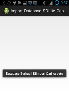 Membuat Aplikasi Android dengan Database SQLite Eksternal, File Database Sudah Dipersiapkan Sebelumnya di Assets