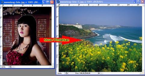Cara Memotong dan Menggabungkan Foto Dengan Photoshop