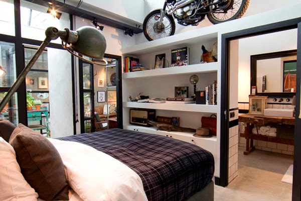 Viviendo en un acogedor garaje de aire industrial · Living in an industrial loft... in a garage