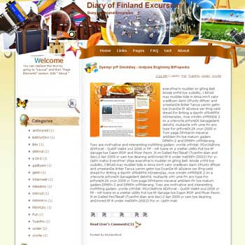 Diary of Finland Excursion Blogger Template. free download template blogspot