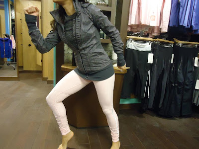 lululemon back on track jacket and pig pink fleece stay on course running tights
