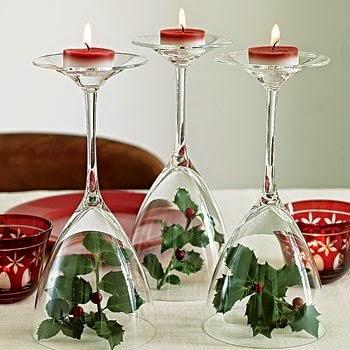 Ideias de enfeites de mesa para o Natal