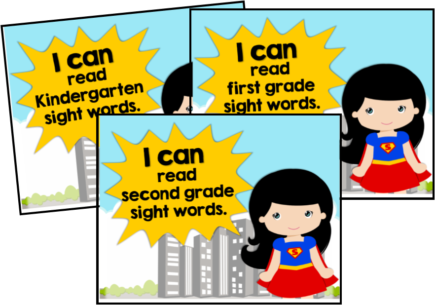 "Bulletin Board or Wall Display printables: ""We are Sight Word ..."