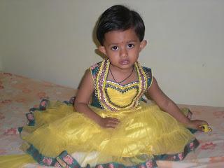 phtograph of baby in lahanga choli