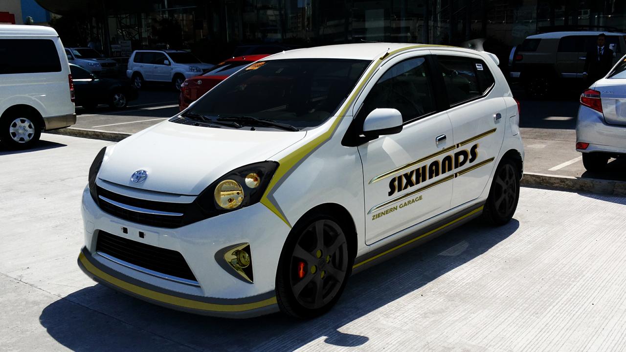 Modifikasi Toyota Agya Daihatsu Ayla Modifikasi Toyota Agya Putih Kuning Hitam