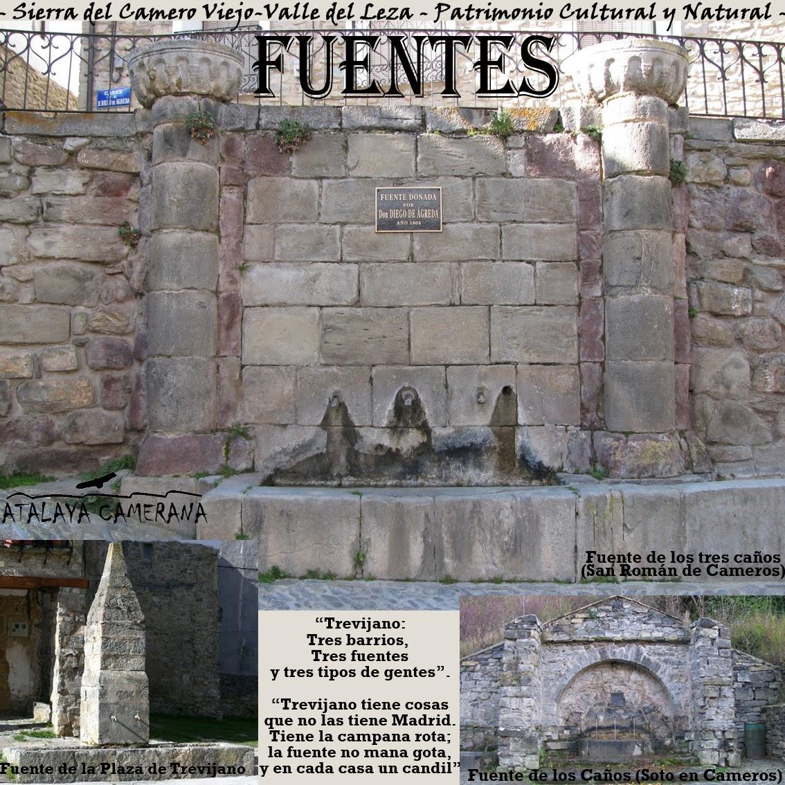 Sierra del Camero Viejo - Valle del Leza. Patrimonio Cultural y Natural. Fuentes.