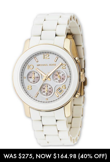 Michael Kors white gold watch