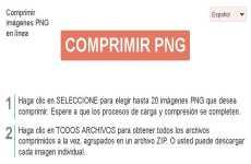 Compress PNG: permite comprimir imágenes PNG online
