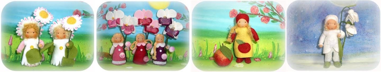 Susannelfes Blumenkinder für den Jahreszeitentisch
