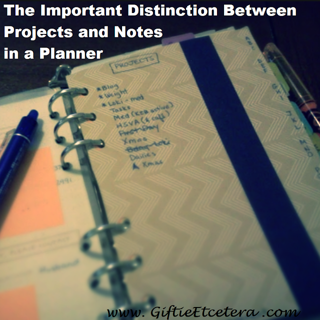 project, projects, project planning, project plan, planner, planner spread, planner sections
