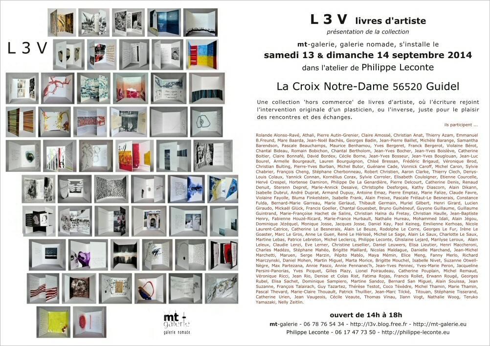 L 3 V livre d'artistes mt-galerie