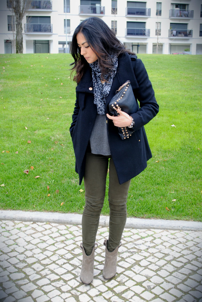 ARMY GREEN & GRAY, DANIELA PIRES, LOOKS, STREET STYLE, FASHION BLOGGER, ZARA, OUTFIT, ANKLE BOOTS