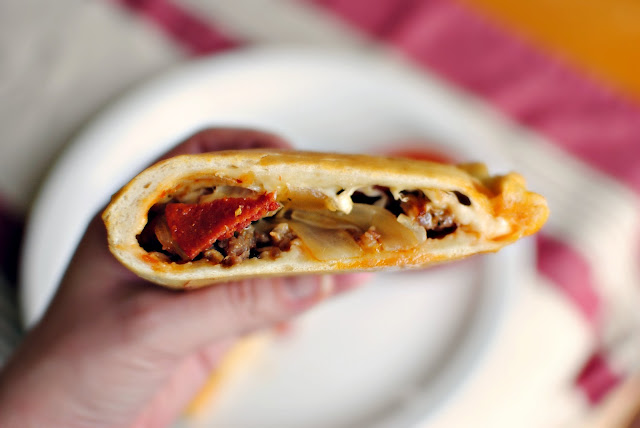 Homemade Pizza Calzones l SimplyScratch.com