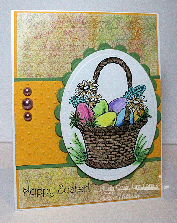Stamps - North Coast Creations Easter Basket, ODBD Blooming Garden Paper Collection