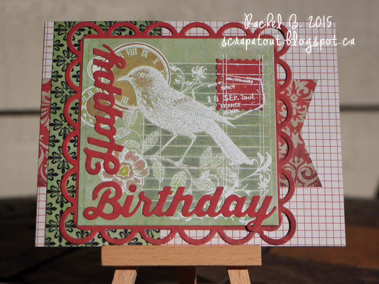 Handmade card, Happy Birthday, Bird, Hero Arts, Impression Obsession