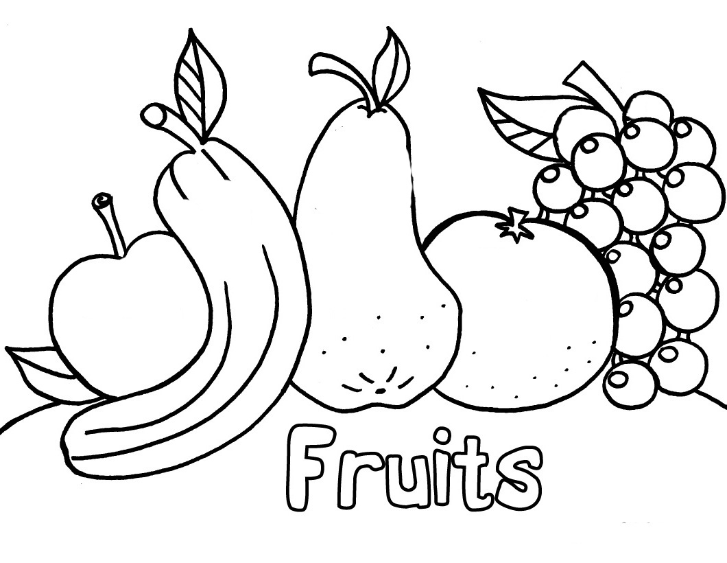 Coloring Pages Of Fresh Fruit And Vegetables Team Colors Fruit And Vegetable Coloring Pages