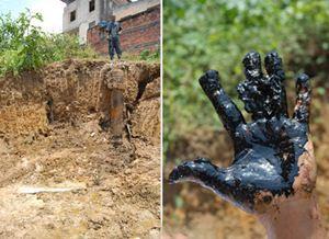Mulher descobre sonda perdida da Petrobras e petróleo jorra em Lobato