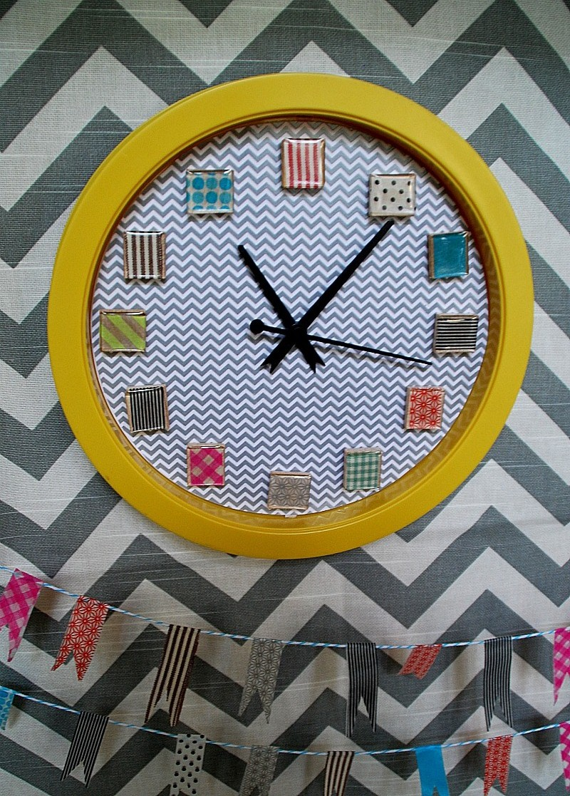 Washi Tape Clock Tutorial