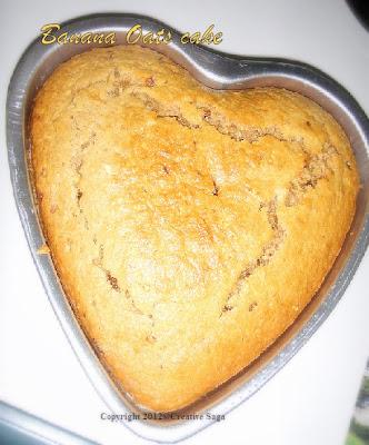 Banana oats cake