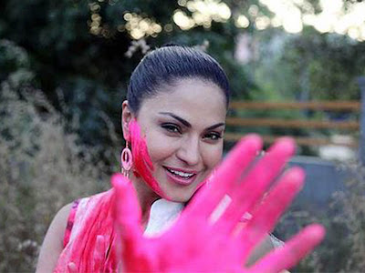 Indian Celebs and models Holi Images