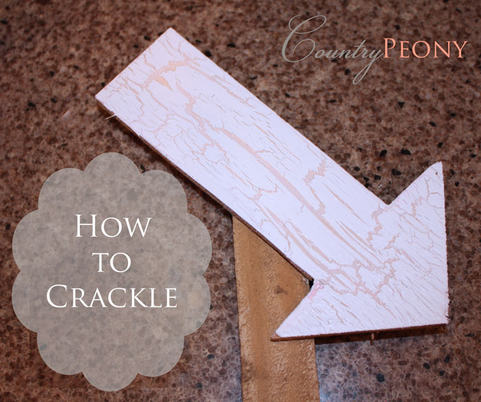 how to create crackle effect with paint