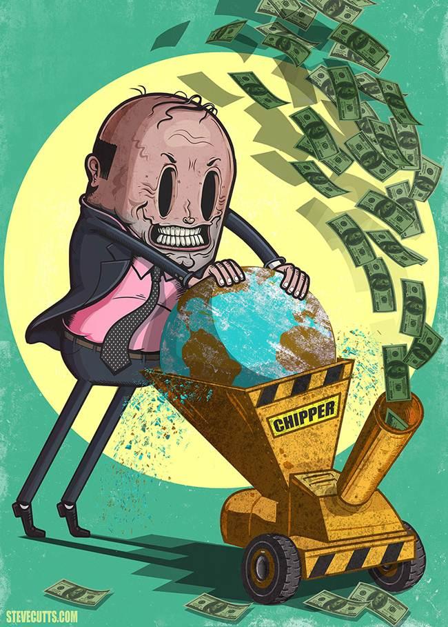 distrugand pamantul pentru bani