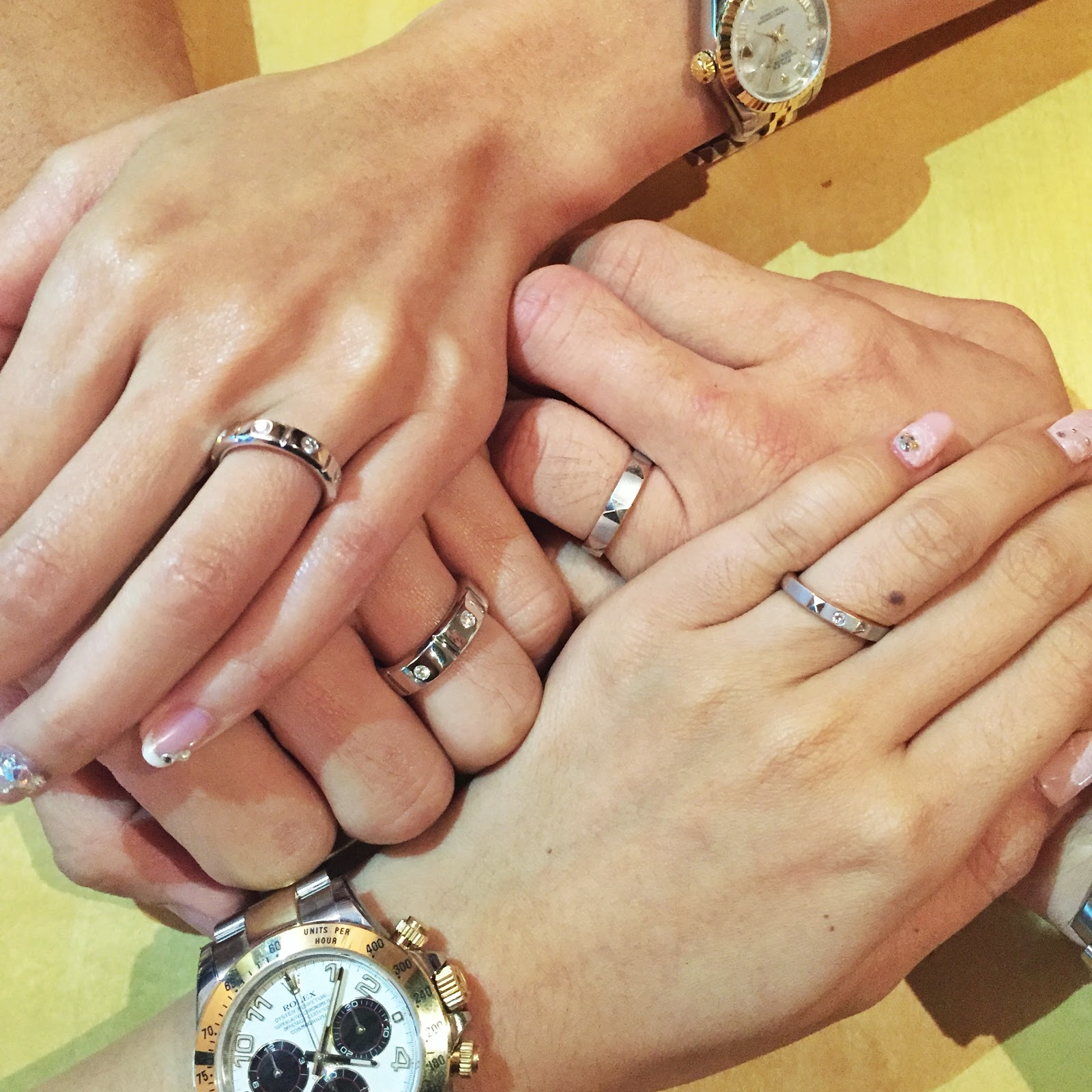 ROM Our Michael Trio Wedding Bands Yina Goes