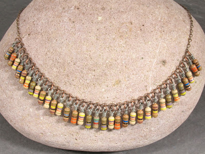 Brown Upcycled Vintage Resistor Necklace
