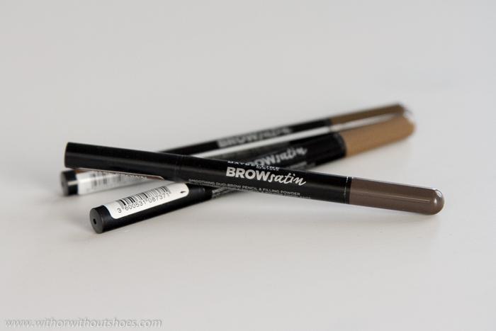 Brow Satin Diseñador de cejas 2 en 1 de Maybelline NY en 3 tonos lapiz cremoso y sombra facil de aplicar