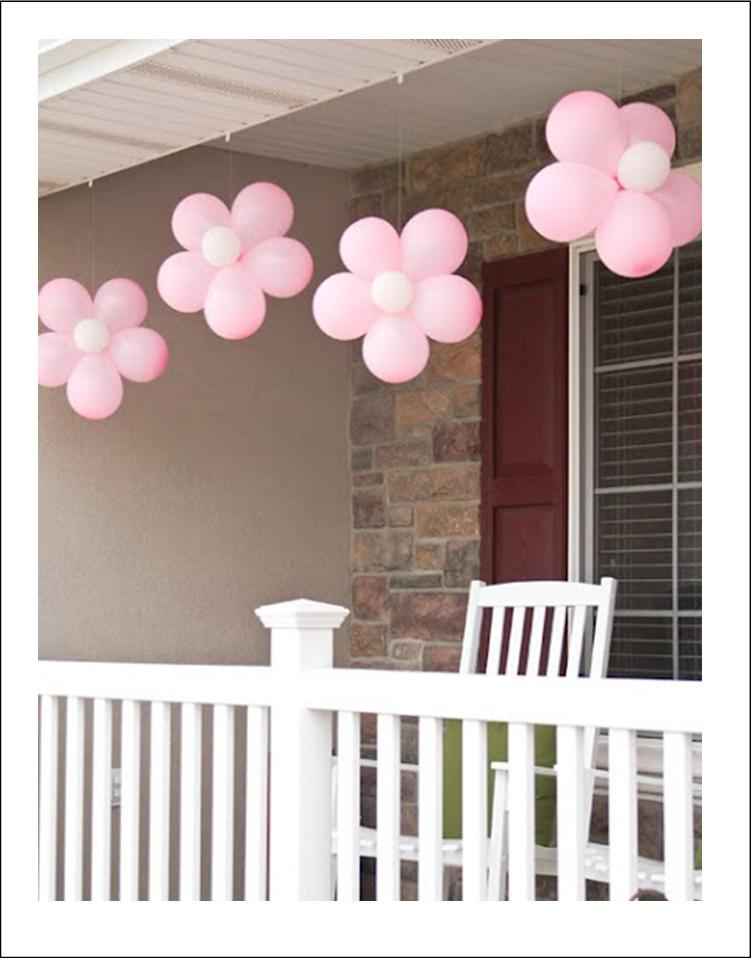 these cute flower balloons would be so great for the outdoors see the