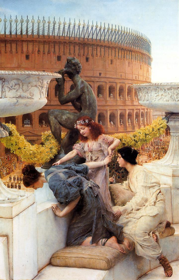 Lawrence Alma-Tadema - Page 2 Lawrence-Alma-Tadema-Art-Painting-The-Colosseum-1896