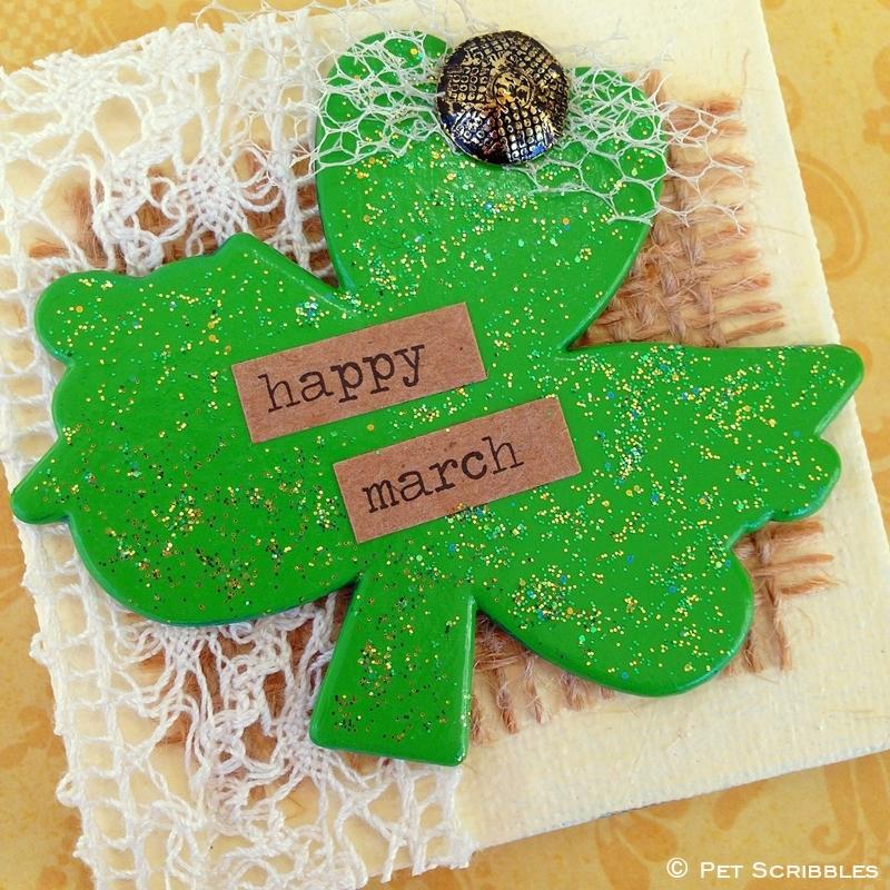 Miniature Shamrock Art for St. Patrick's Day