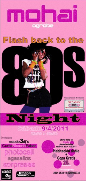 1ª FIESTA 80's NIGHT