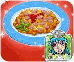 Nấu mỳ xào , game ban gai