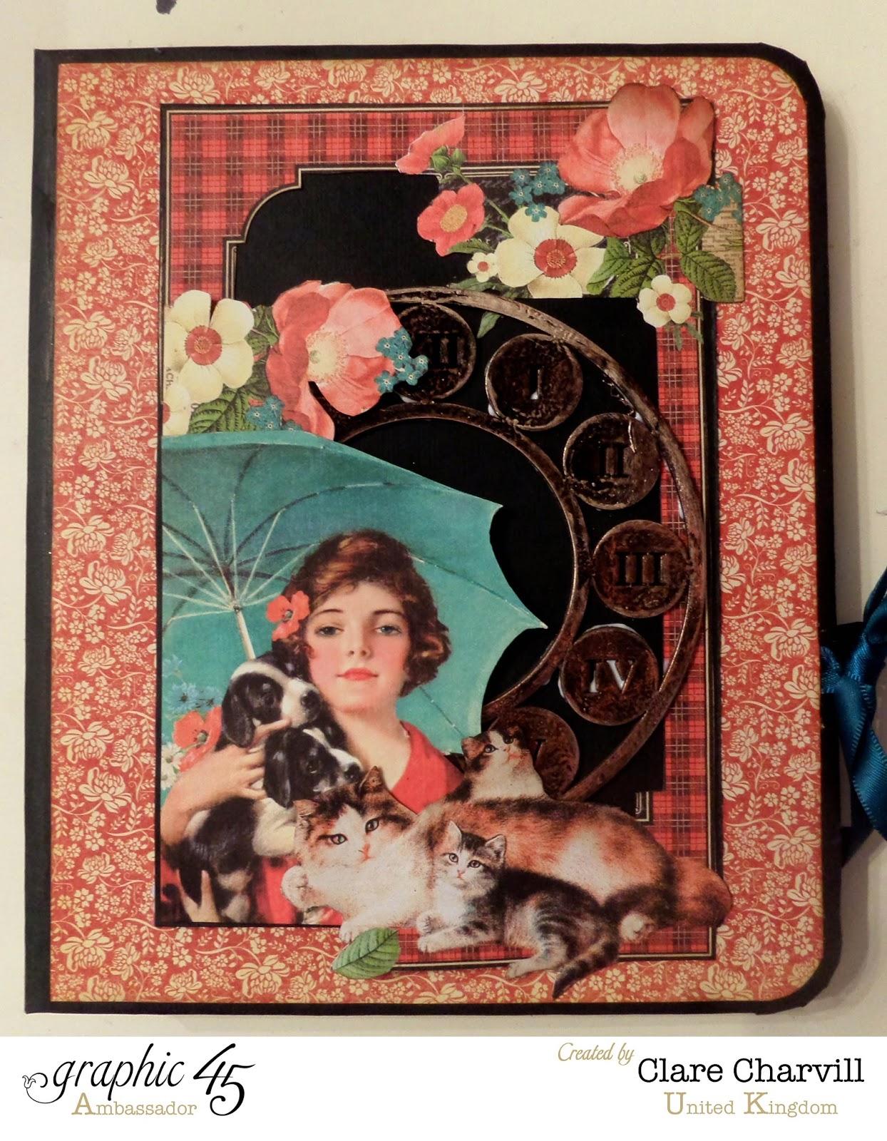Raining Cats and Dogs Folio Album designed by Clare Charvill Graphic 45 Ambassador UK