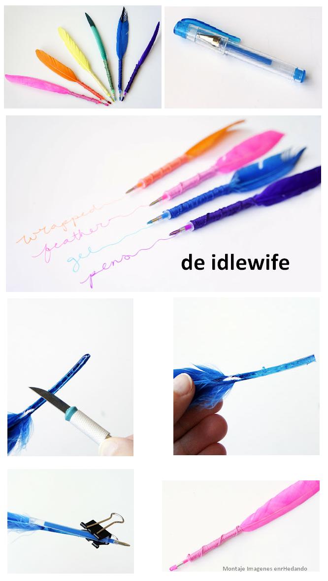 Enrhedando manualidades - Manualidades con plumas ...