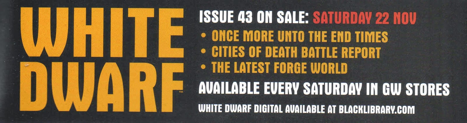 Adelanto de la White Dwarf Weekly número 43