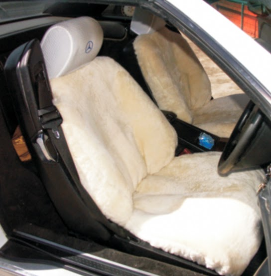 Sheep Skin Seat Covers Bring in Heat