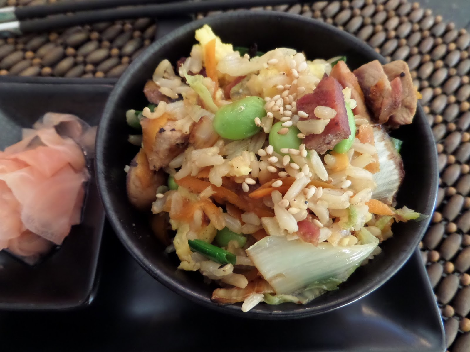 Foodie: in Minnesota: Edamame and Pork Fried Brown Rice