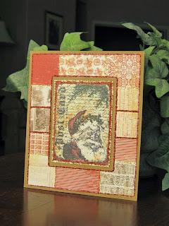greeting card, santa