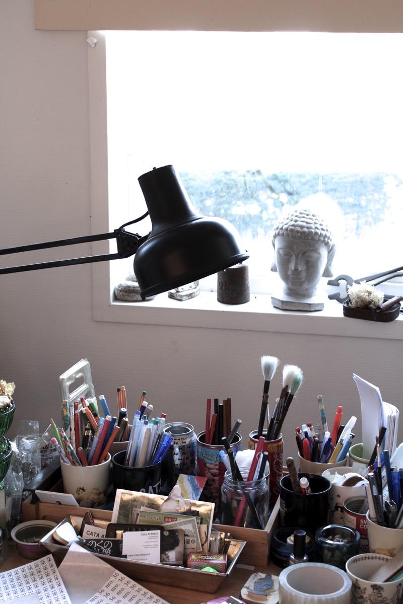 taiteilijan työhuone