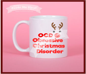 OCD Christmas Deer Mug